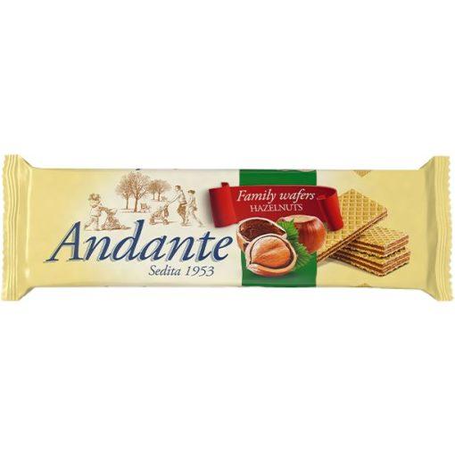 Andante töltött ostya csokoládé mogyoró 130g
