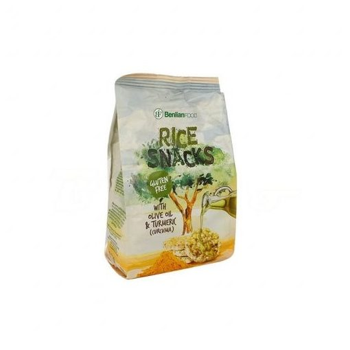 Benlian mini puffasztott rizs kurkuma olivaolaj 50g