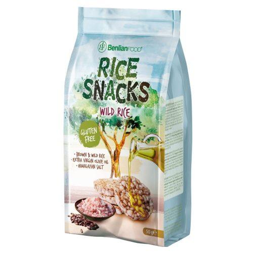 Benlian mini puffasztott rizs himalája só+olivaolaj 50g