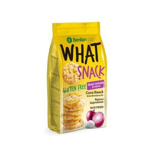 Benlian What Snack puffasztott kukorica tejszínes hagymás 50g