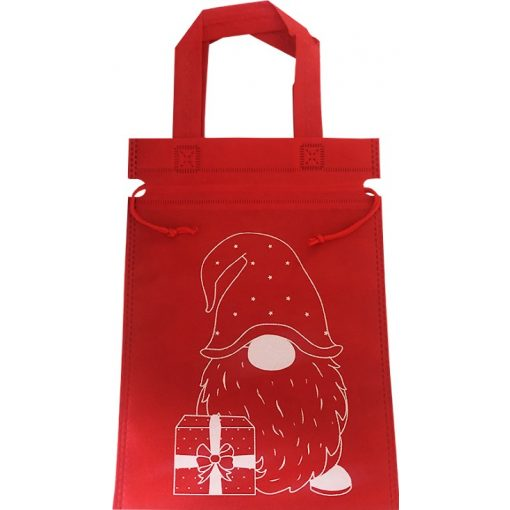 Mikulás táska piros vászon 1db