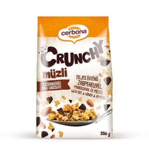 Cerbona Crunchy tejcsokoládés müzli 350g