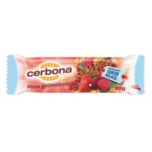 Cerbona müzliszelet piros gyümölcs 20g
