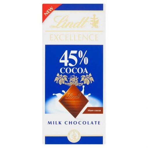 Lindt excellence tejcsokoládé 45% 85g