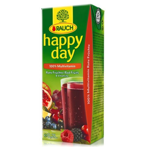 Rauch Happy Day gyümölcslé multivitamin 100% 0,2l