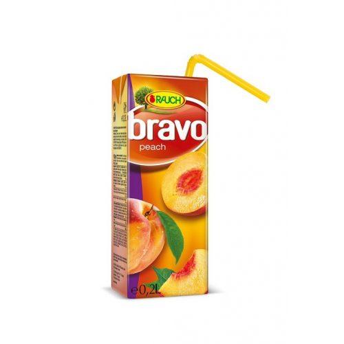 Rauch bravo gyümölcslé őszibarack 25% 0,2l