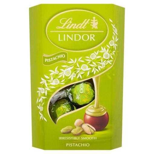Lindt Lindor tejcsokoládé praliné pisztácia 200g