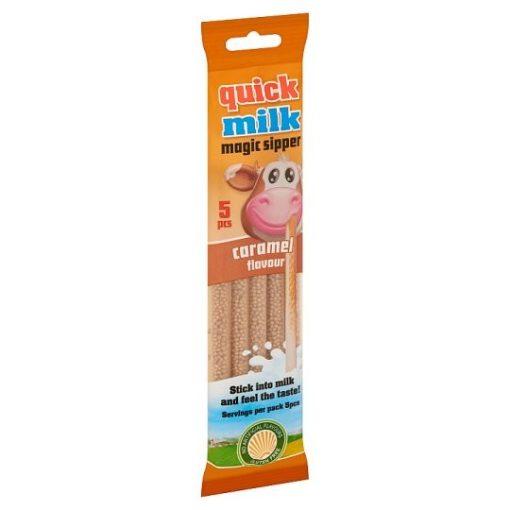 Quick Milk mágikus szívószál karamell ízű 30g