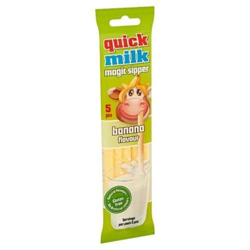 Quick Milk mágikus szívószál banán ízű 30g