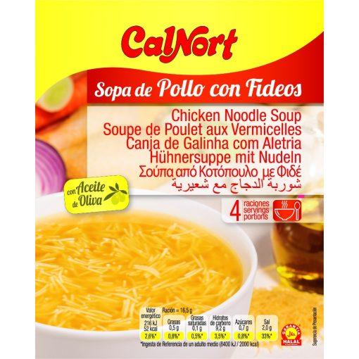Calnort instant csirkeleves 4 tányér 66g