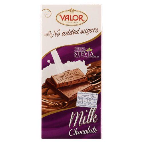 Valor táblás tejcsokoládé hozzáadott cukor nélkül 100g