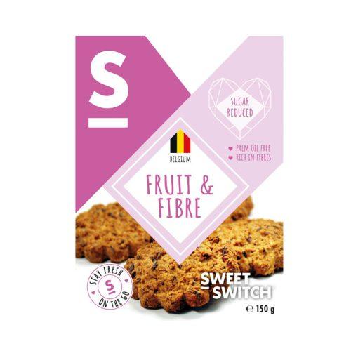 Sweet Switch Fruit & Fibre keksz hozzáadott cukor nélkül 150g
