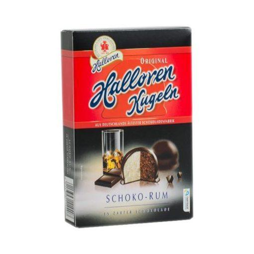 Halloren Praliné csokoládé-rum ízesítésű 125g