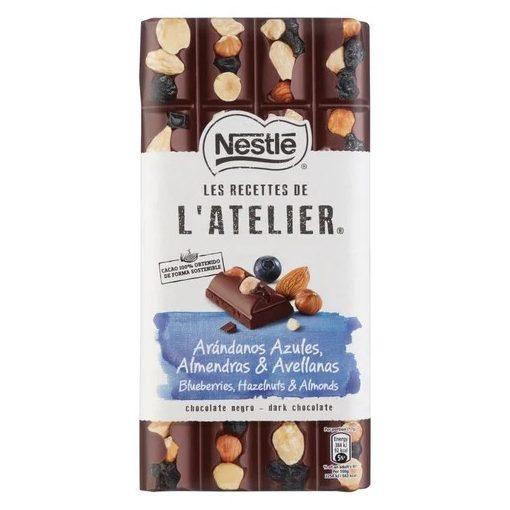 Nestlé L'Atelier táblás étcsokoládé áfonya-mandula 170g