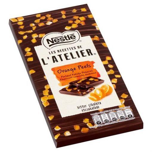 Nestlé L'Atelier táblás étcsokoládé kandírozott narancshéjjal 115g