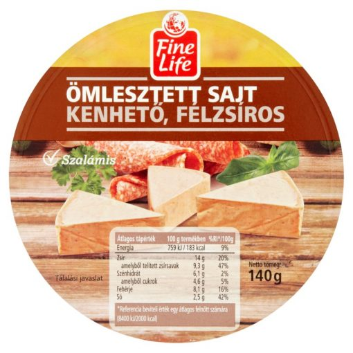 Fine Life ölesztett sajt szalámis 140g