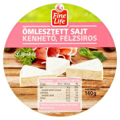 Fine Life ömlesztett sajt sonkás 140g