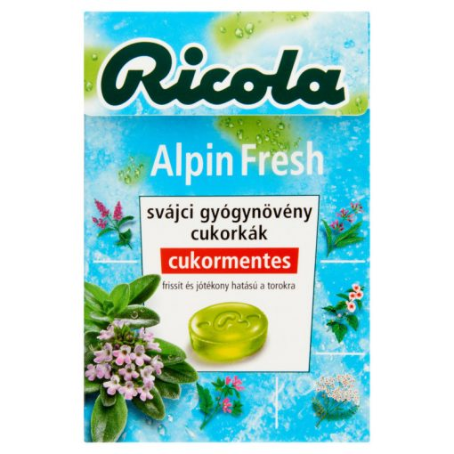 Ricola gyógynövényes cukorka alpin fresh 40g