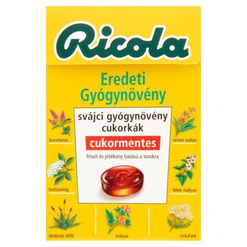 Ricola gyógynövényes cukorka original 40g