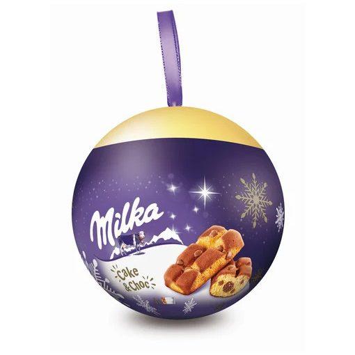 Milka karácsonyi gömb cake&choc 140g