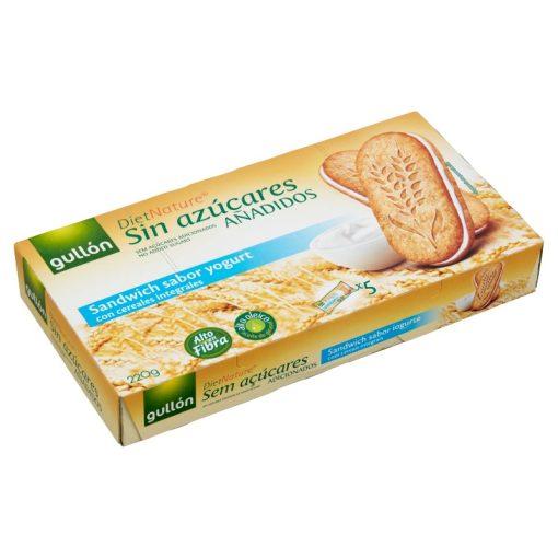 Gullon joghurtos reggeli szendvicskeksz hozzáadott cukor nélkül 220g