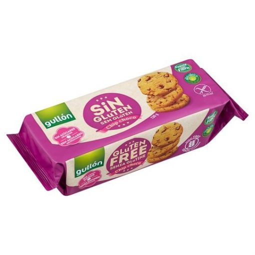 Gullon chip choco gluténmentes keksz hozzáadott cukor nélkül 130g