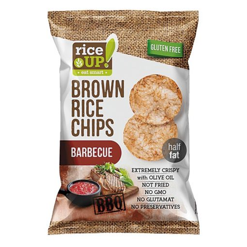 Rice up barnarizs chips barbeque ízű 60g