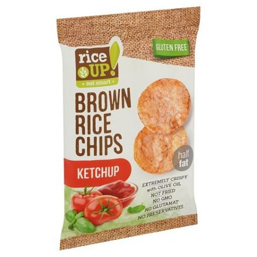 Rice Up barnarizs chips ketchup ízű 60g