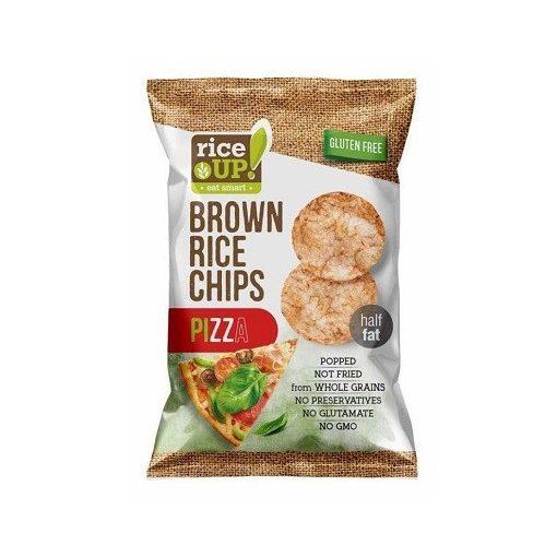Rice Up barnarizs chips pizza ízű 60g