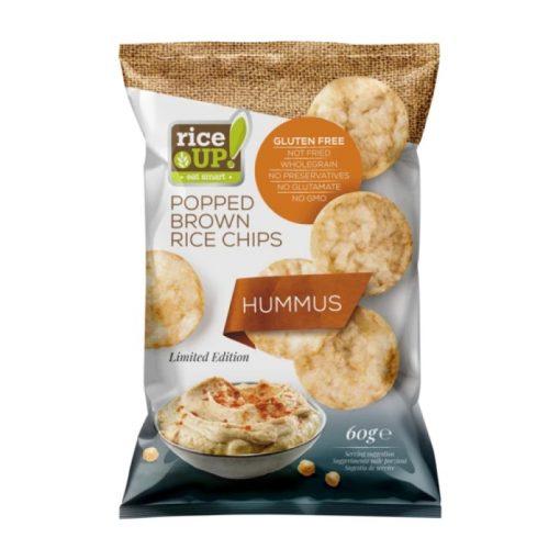 Rice Up barnarizs chips humusz ízű 60g