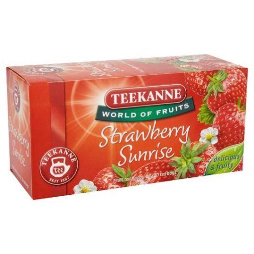 Teekanne World of Fruit Strawberry Sunrise eper gyümölcstea 50g