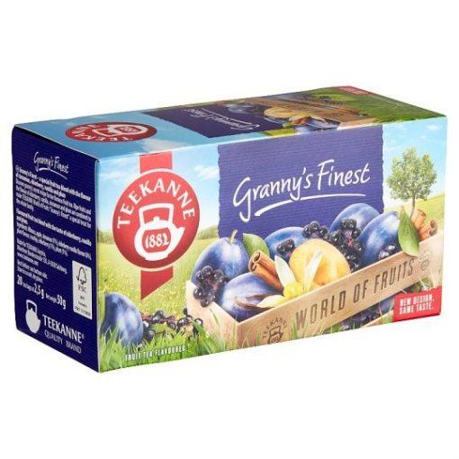 Teekanne World of Fruit Grannys Finest szilvás fahéjas gyümölcstea 50g