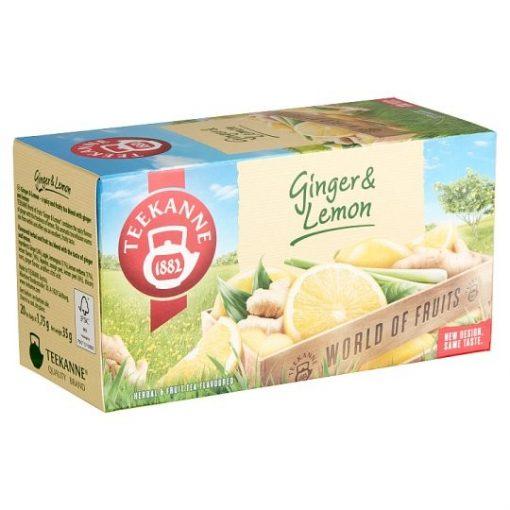 Teekanne World of Fruit Ginger Lemon gyömbéres citromos tea 35g