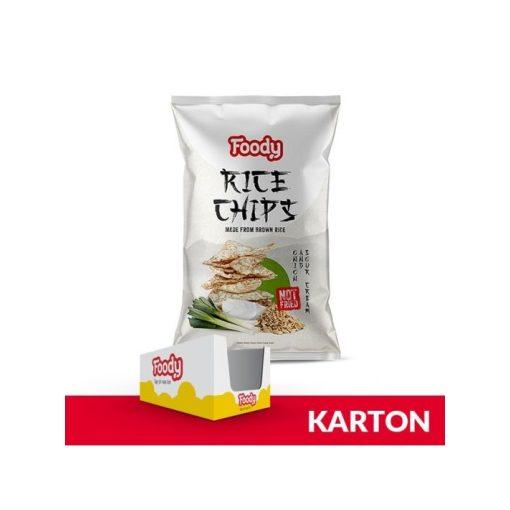 Foody rizschips hagymás-tejfölös ízesítésű 55g