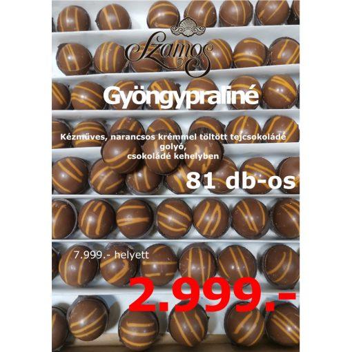 Szamos Gyöngypraliné 81db-os narancsos ízű