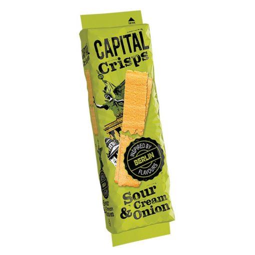 Capital Crisps hagymás-tejfölös ízű burgonyachips 75g