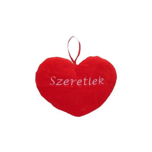 """Szív alakú plüss párna """"Szeretlek"""" 37cm"""