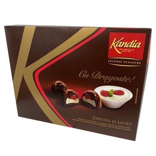 Kandia Praliné málna és joghurt ízű töltelékkel 103g