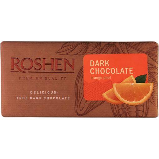 Roshen táblás étcsokoládé narancshéjjal 90g