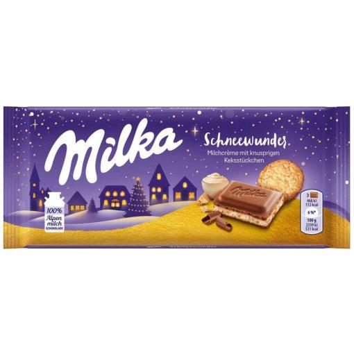 Milka alpesi tejcsokoládé tejkrémes-kekszes 100g