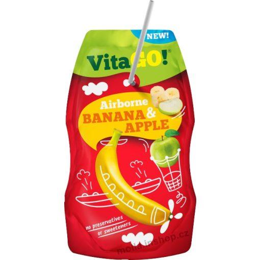 Vitago szívószálas üdítőital alma-banán 200ml