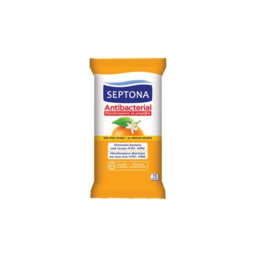 Septona antibakteriális törlőkendő 15db