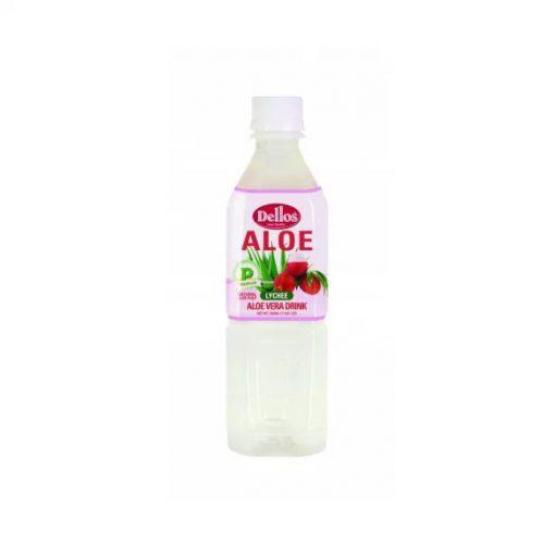 Dellos Aloe Vera üdítőital licsi ízesítésű 500ml