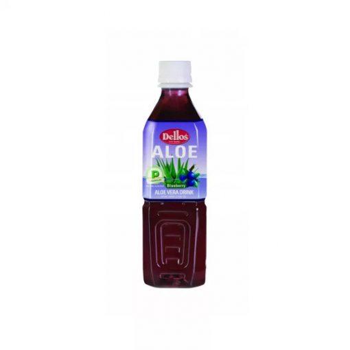 Dellos Aloe Vera üdítőital kék áfonya ízesítésű 500ml