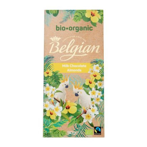 Belgian BIO tejcsokoládé mandulával 90g