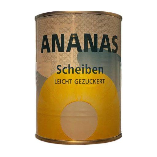 Rewe szeletelt ananász konzerv 565g