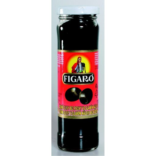 Figaro fekete olivabogyó magozott üveges 142g/70g