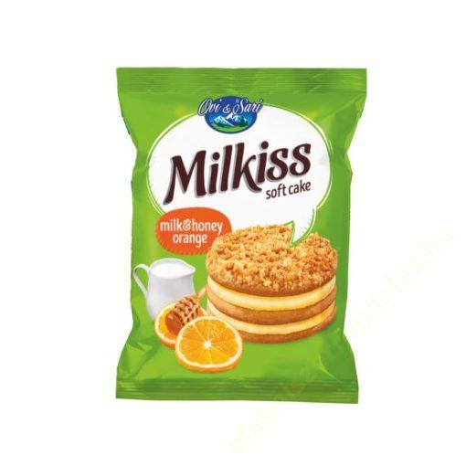 Milkiss mézes piskóta tej ízű krémmel és narancs darabokkal 50g