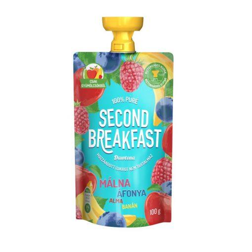 Second Breakfast gyümölcspüré málna-áfonya-alma-banán 100g