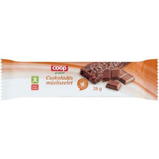 Coop müzliszelet gluténmentes csokoládés 28g